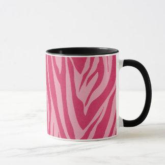 Zebra stripes in hot pink mug