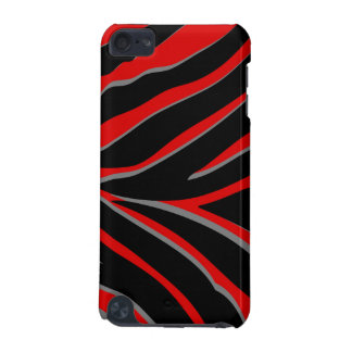 Zebra Stripes in Red & Black iPod Touch (5th Generation) Cases