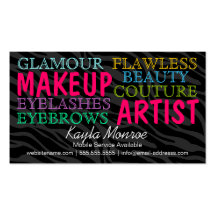 Zebra Stripes Makeup Artist and Hair Stylist Double-Sided Standard Business Cards (Pack Of 100)