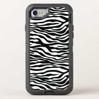 Zebra stripes pattern black & white + your ideas OtterBox defender iPhone 7 case