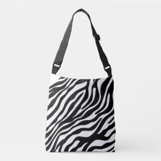 Zebra stripes pattern black & white + your ideas tote bag