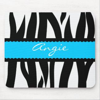 Zebra Stripes Pattern Personalized Name Mousepad