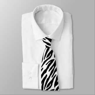 Zebra Stripes Pattern Tie
