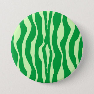 Zebra stripes - Shades of Lime Green 7.5 Cm Round Badge