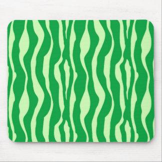 Zebra stripes - Shades of Lime Green Mousepad