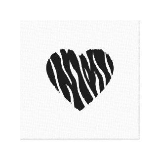 Zebra Stripes Stretched Canvas Print