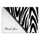 Zebra Stripes Thank You Note Card