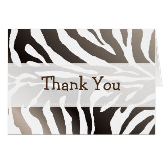 Zebra Stripes/Thank You Note Cards