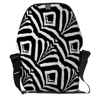 ZEBRA STRIPES TOO! (a Black & White design) ~ Courier Bags