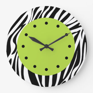 Zebra Stripes Wildlife Clocks