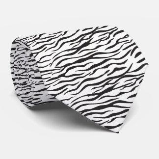 Zebra stripes / zebra skin print design tie