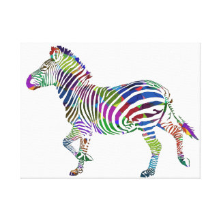 Zebra style Dare to be different. Canvas Print