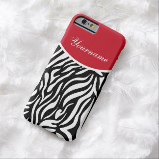 Zebra Style Monogram Barely There iPhone 6 Case