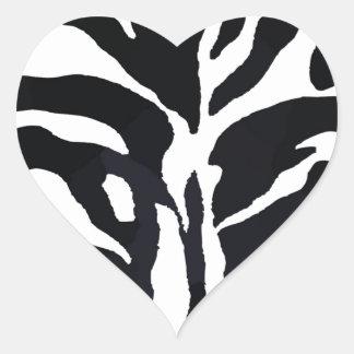 Zebra Style Heart Sticker
