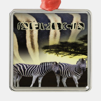 Zebra Sunset Ornament