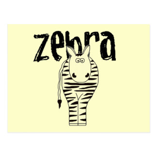 Zebra T-shirts and Gifts Postcards