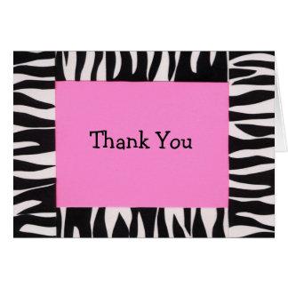 Zebra, Thank You Card