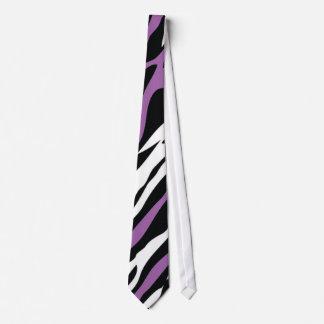 Zebra Tie - Purple
