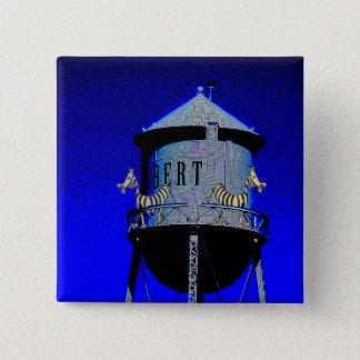 Zebra Tower 15 Cm Square Badge