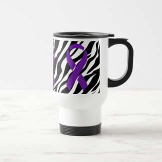 Zebra w/Purple Ribbon Coffee Mug