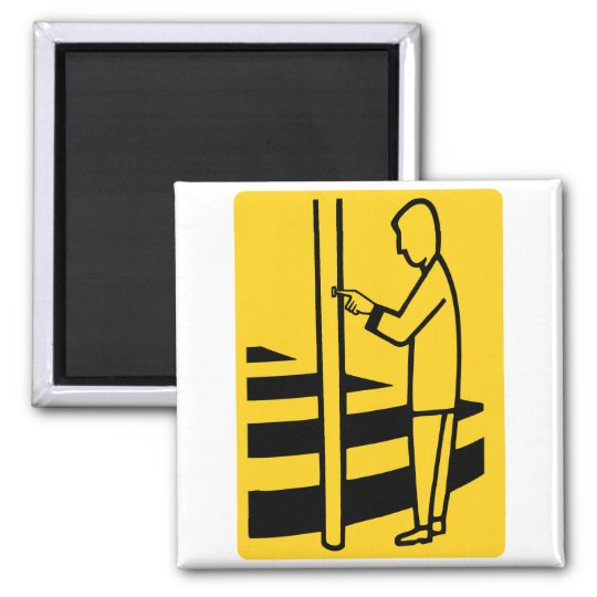 Zebra Walk Crosswalk Sign Walk Europe Dutch Guy Magnet