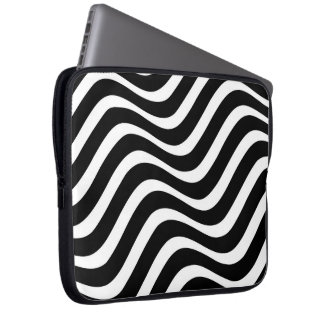 Zebra Wave Pattern Laptop Sleeve