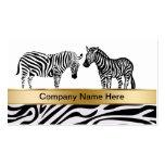 Zebra Wildlife Business Cards