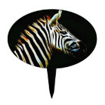 Zebra with black and white stripes in Africa Cake Topper