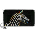 Zebra with black and white stripes in Africa Mini Speakers