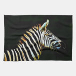Zebra with black and white stripes in Africa Kitchen Towels