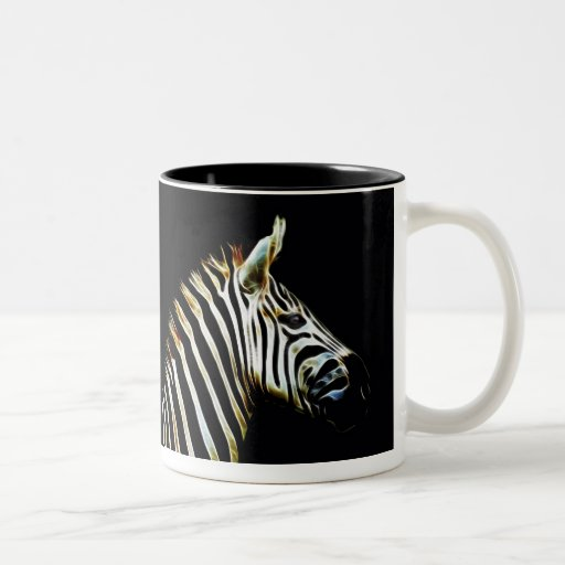 Zebra with black and white stripes mug