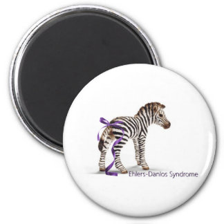 zebra with ribbon large.png 6 cm round magnet