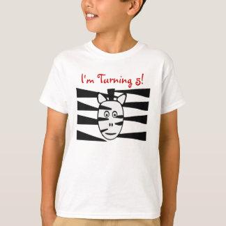 Zebra Zoo Animals Childs Birthday Shirt