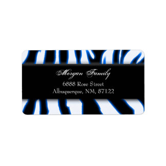zebrablue-1, Morgan Family, 6888 Rose StreetAlb... Address Label