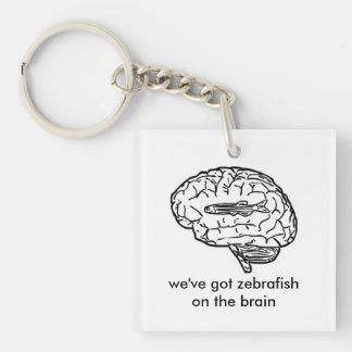 zebrafish on the brain keychain
