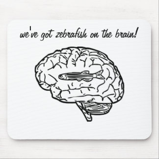 Zebrafish on the brain mousepad