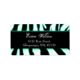 zebragreen address label