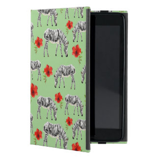 Zebras Among Hibiscus Flowers iPad Mini Covers