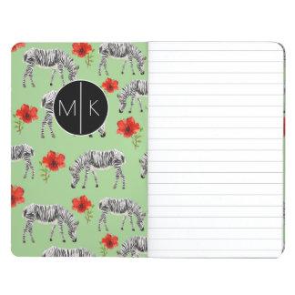 Zebras Among Hibiscus Flowers | Monogram Journals