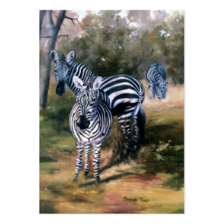 Zebras ArtCard Pack Of Chubby Business Cards