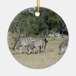 Zebras Christmas Ornament