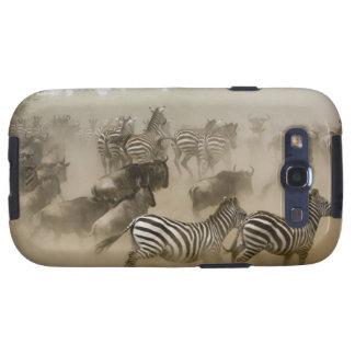 zebras (Equus burchelli) and wildebeest Samsung Galaxy S3 Cover