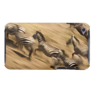 Zebras (Equus quagga) and wildebeest iPod Touch Cases