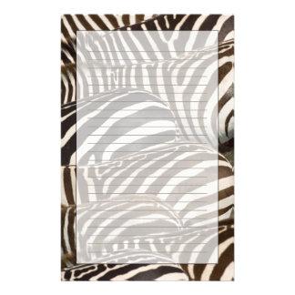 Zebras' (Equus quagga) stripes, Masai Mara Stationery Design