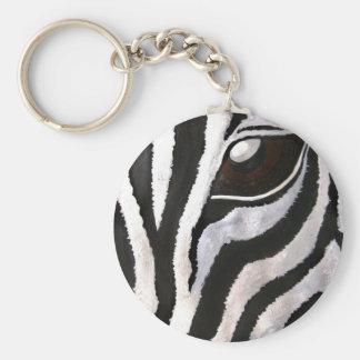 Zebra's Eye (Acrylic by Kimberly Turnbull Art) Key Ring