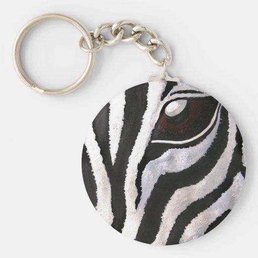 Zebra's Eye (Acrylic by Kimberly Turnbull Art) Key Chains