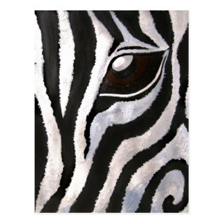 Zebra's Eye (Acrylic by Kimberly Turnbull Art) Postcard