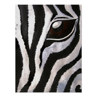 Zebra's Eye (Acrylic by Kimberly Turnbull Art) Poster