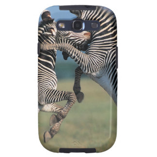 Zebras fighting (Equus burchelli) Samsung Galaxy S3 Covers