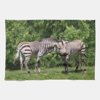 Zebras in Love Kitchen Towel
